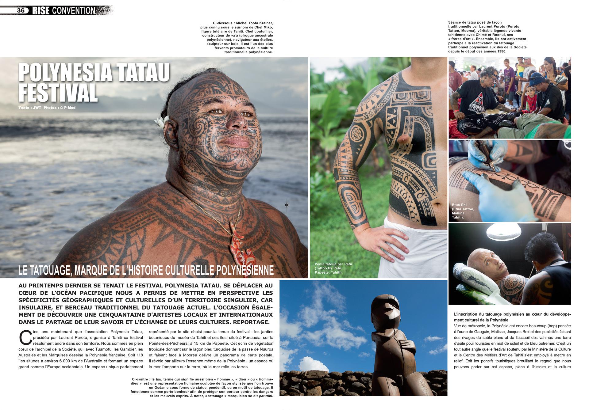 Rise Tattoo Magazine #45 / Polynesia Tatau Festival