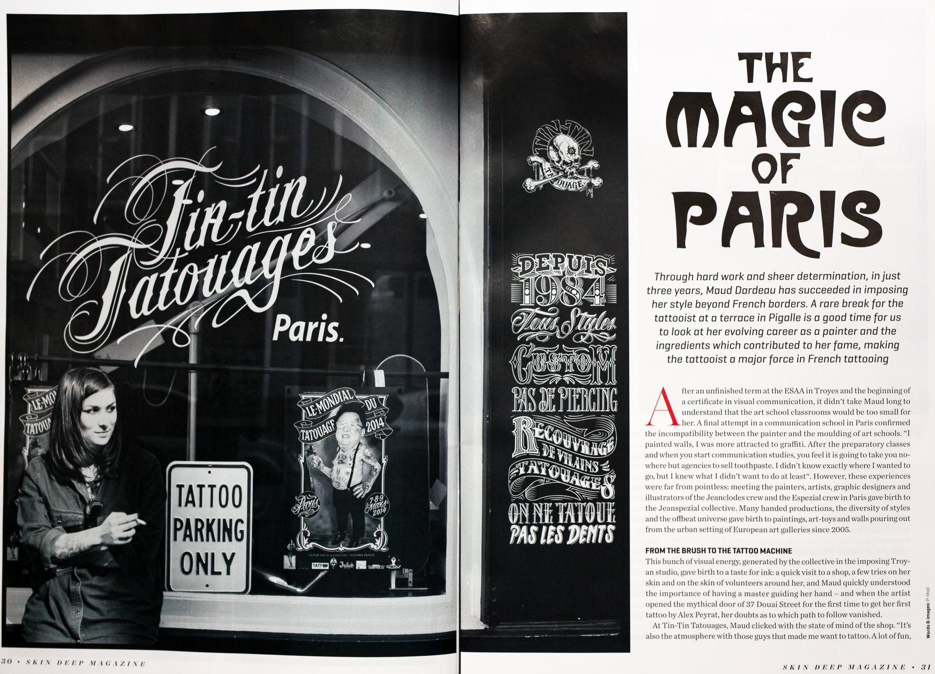 SkinDeep feb 2016 - Maud Dardeau, The magic of Paris