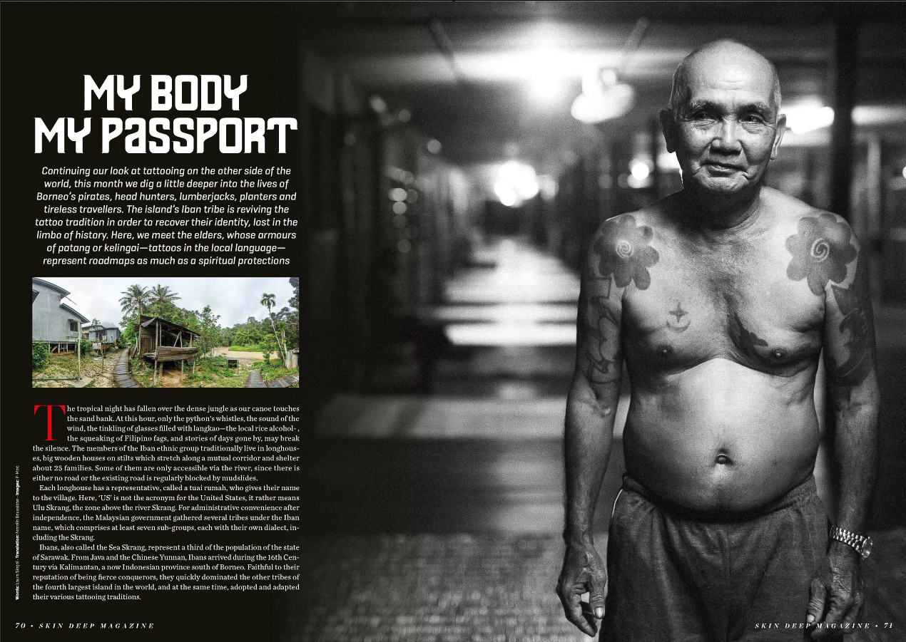 SkinDeep may 2016 - My Body, my passport (Borneo Iban culture)
