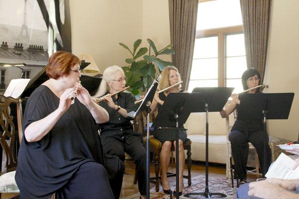 """Pipe Dreams Flute Quartet played four selections from Georges Bizet's """"Carmen,"""" (L-R) Rhondda Dayton, Paulie Davis, Nancy Marfisi and Katrina Curdy."""