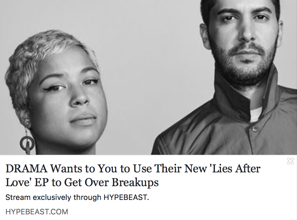 DRAMA wants to you to use their new 'Lies After Love' EP to get over breakups - HYPEBEAST