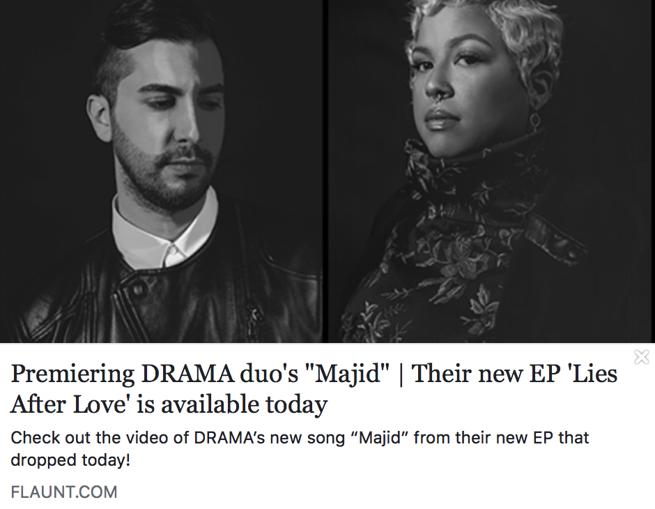"""Premiering DRAMA Duo's """"Majid"""" 