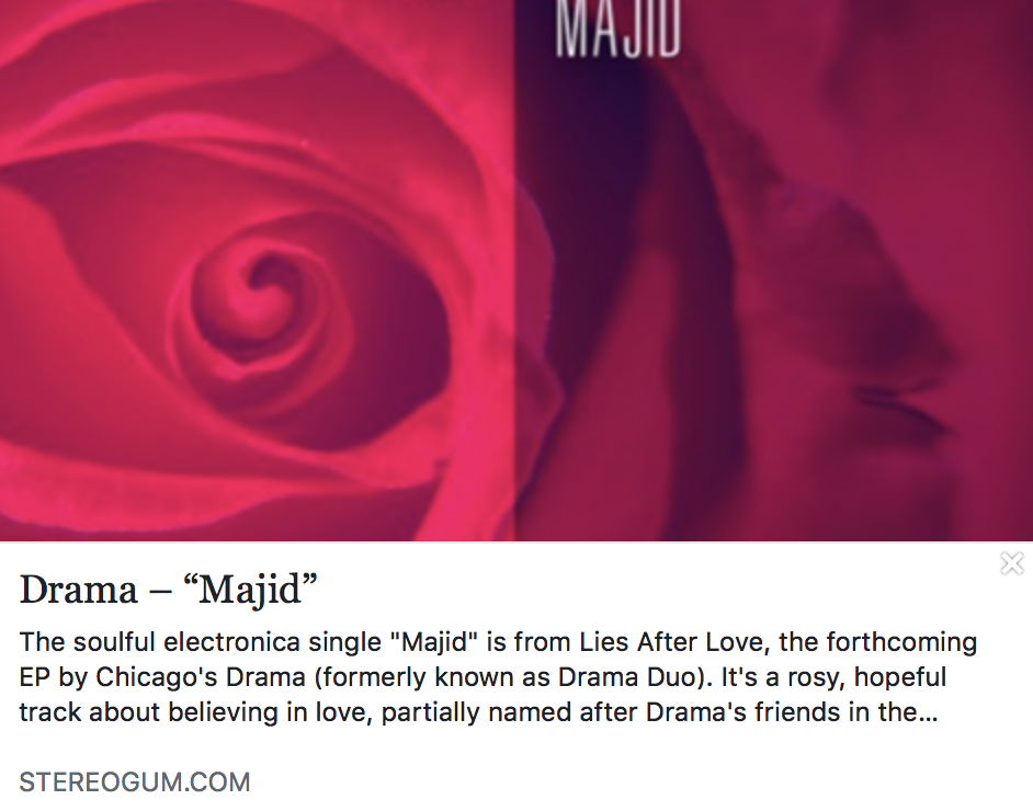"DRAMA – ""Majid"" - STEREOGUM"