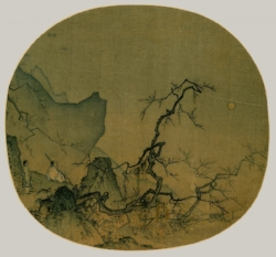 Viewing Plum Blossoms by Moonlight by Ma Yuan, thirteenth century CE