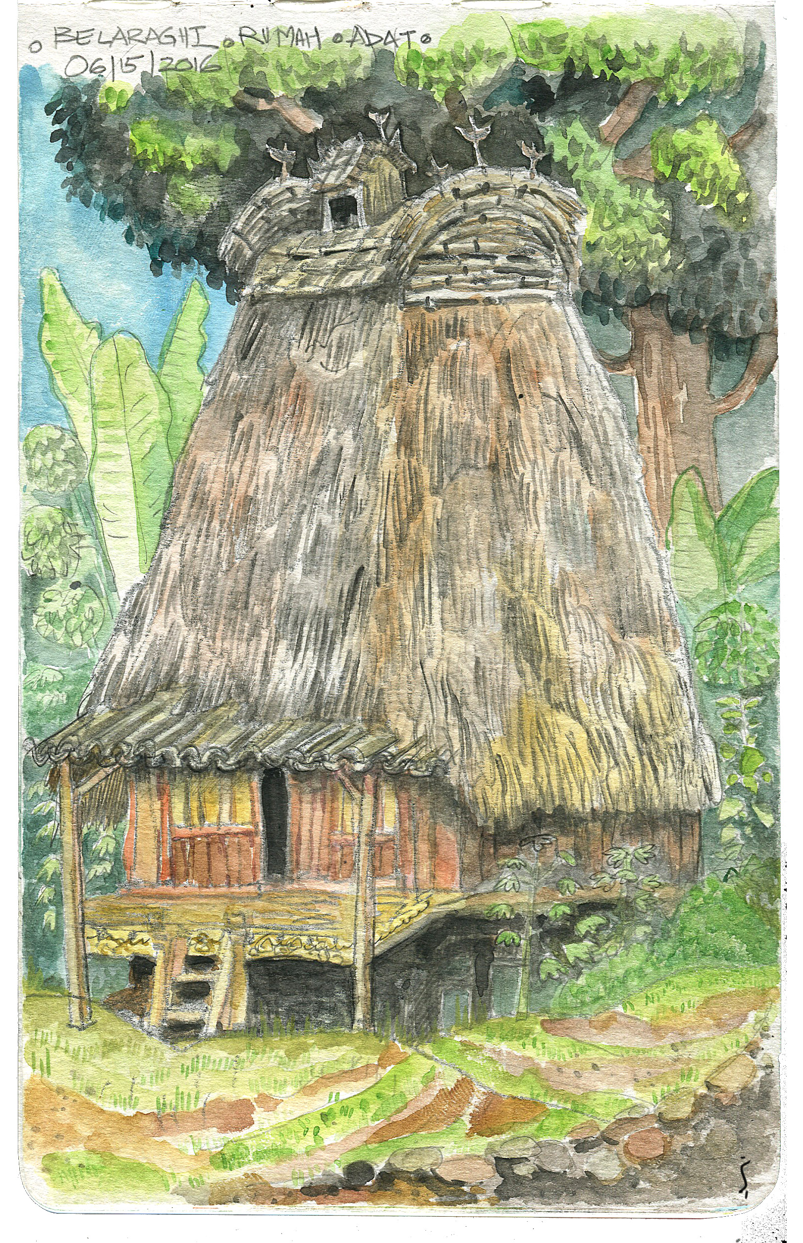 Traditional hut.