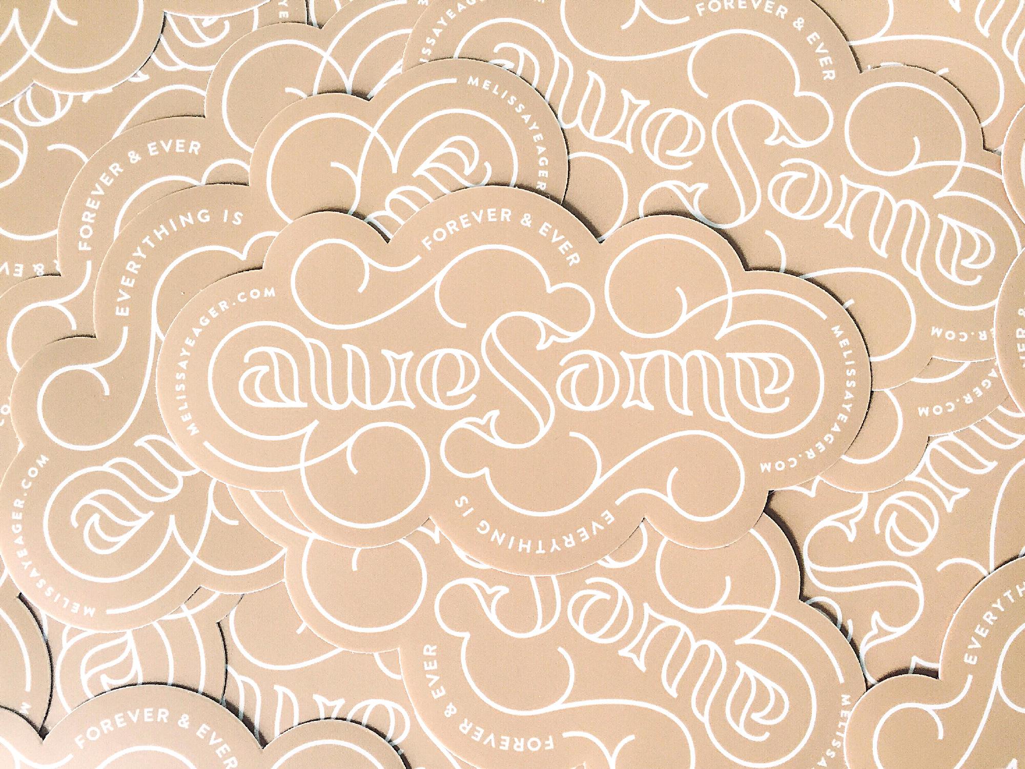 Awesome ambigram - Melissa Yeager