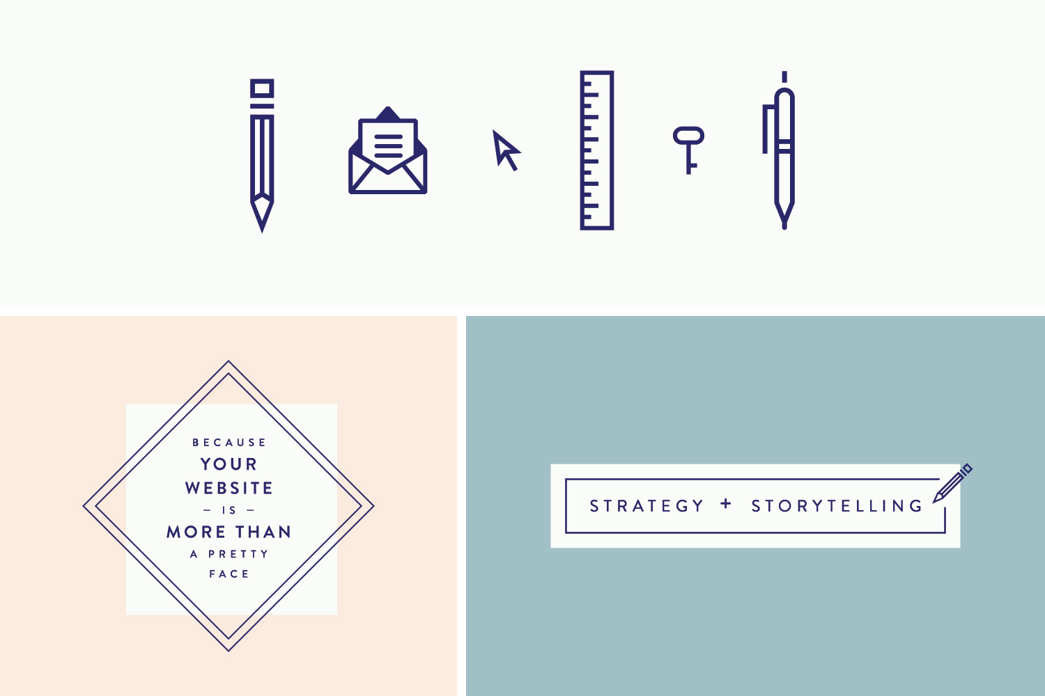 Creative, She Wrote - Custom Icons & Graphic Elements