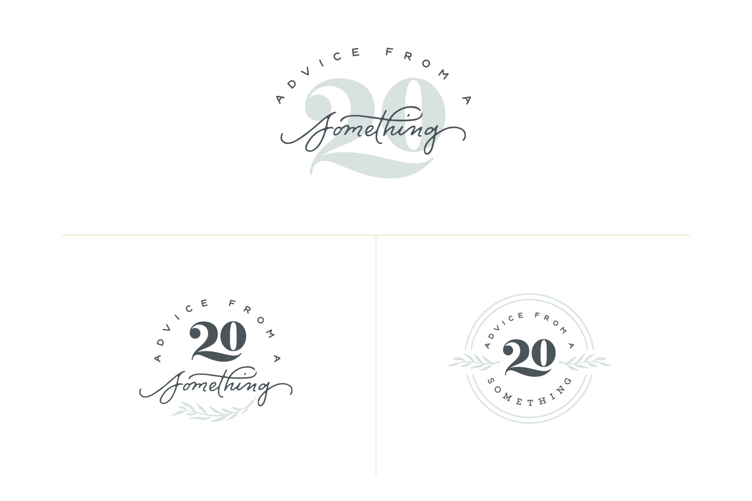 Advice from a 20 Something - Logo Design