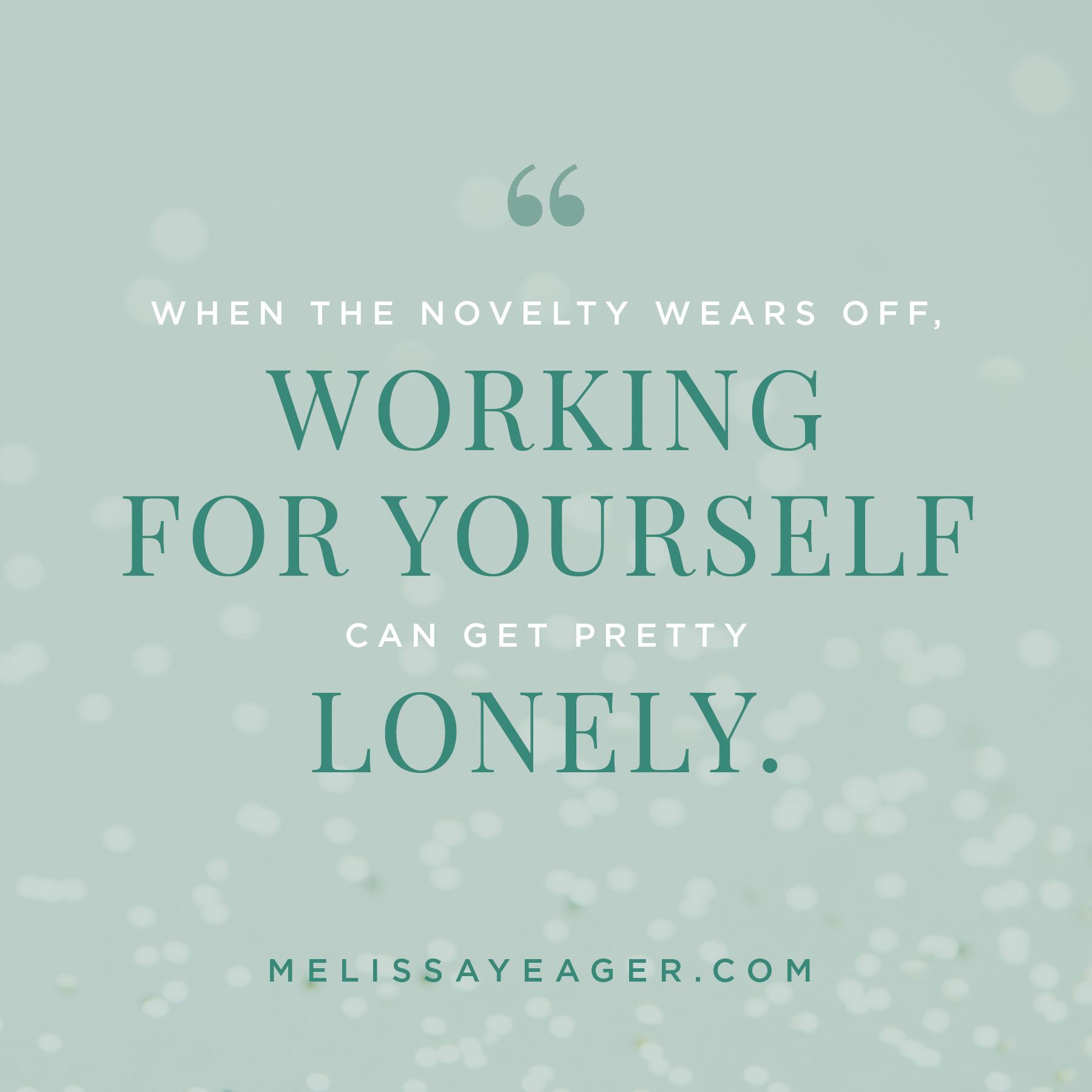 self-employed struggles