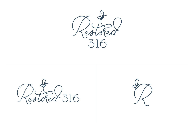 Restored 316 - Primary logo, secondary logo, & mark