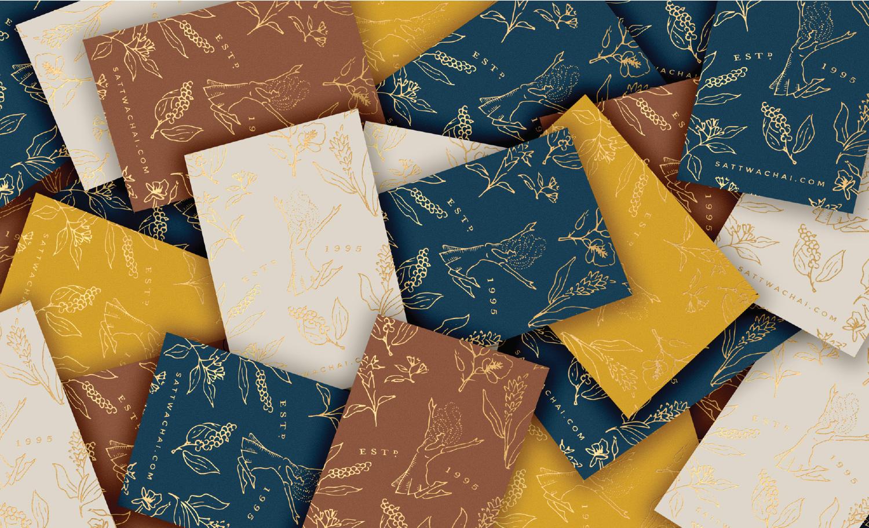 Sattwa Chai - Foil Business Cards
