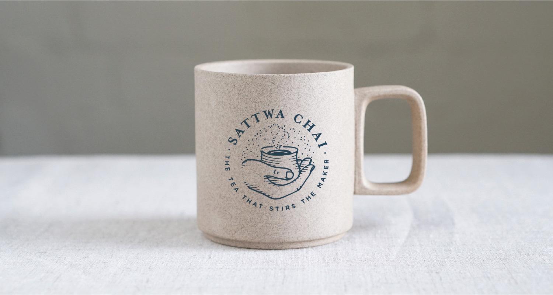 Sattwa Chai - Logo + brand identity design by Melissa Yeager