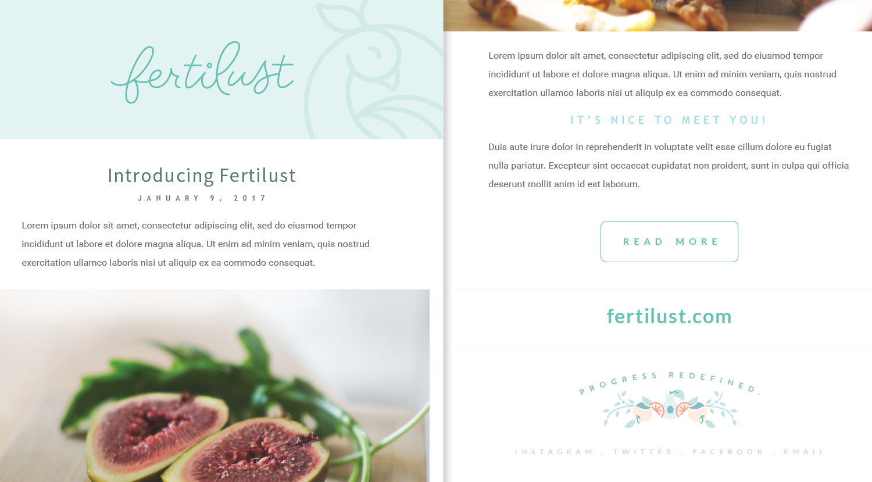 Fertilust - Newsletter Template
