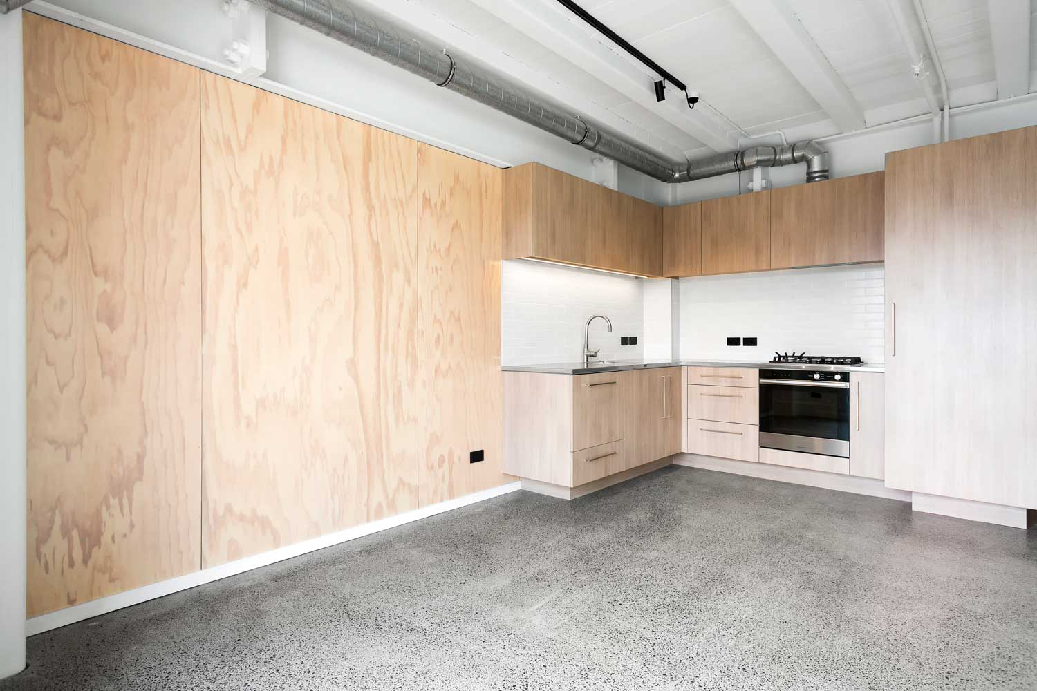 plywood-feature-wall-kitchen-dining