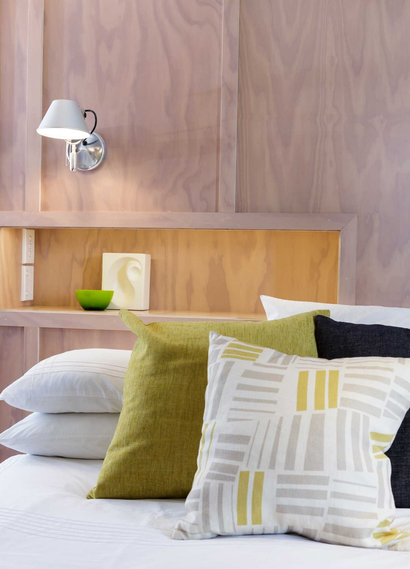 plywood style bedroom