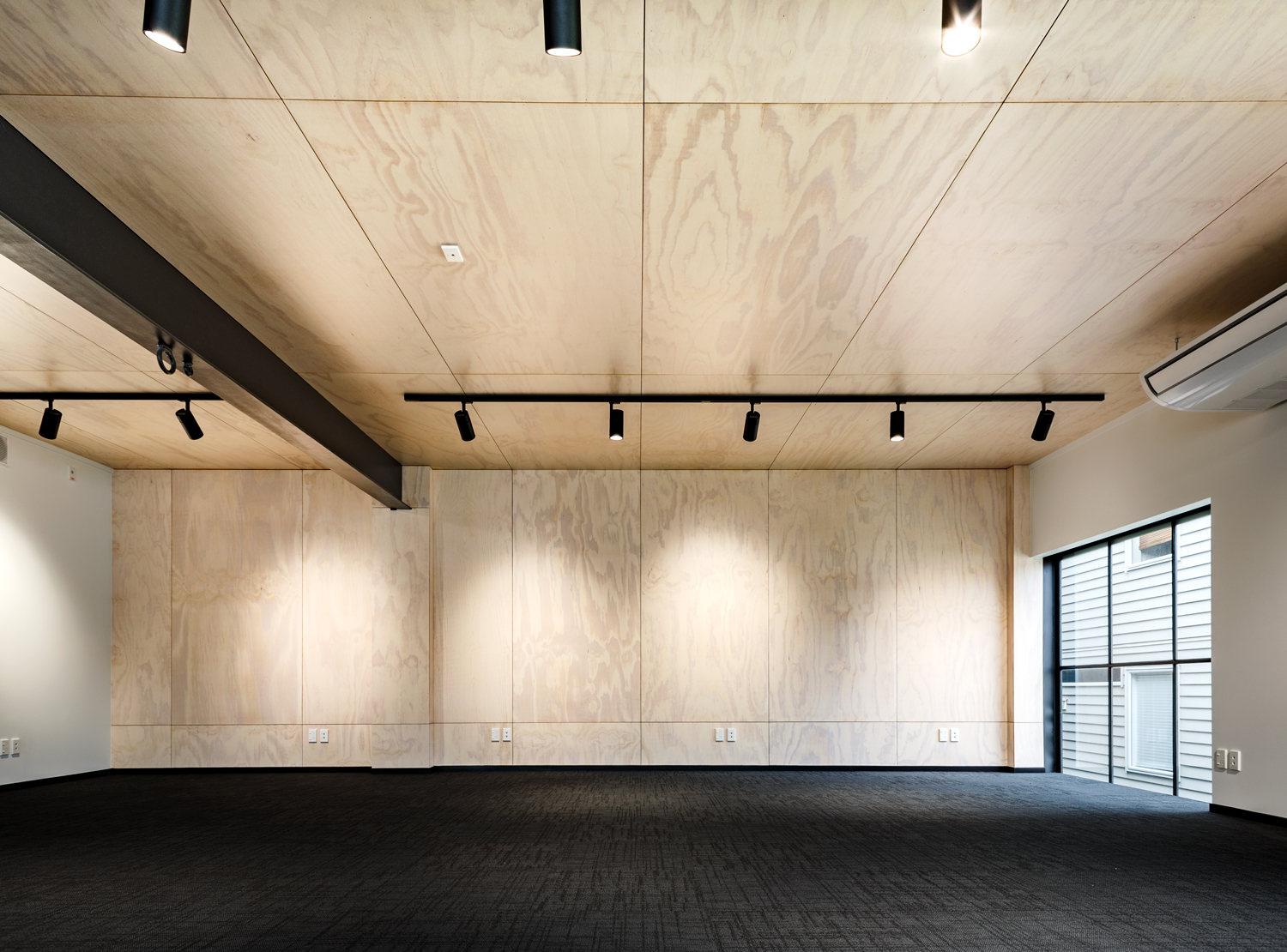plywood office lining