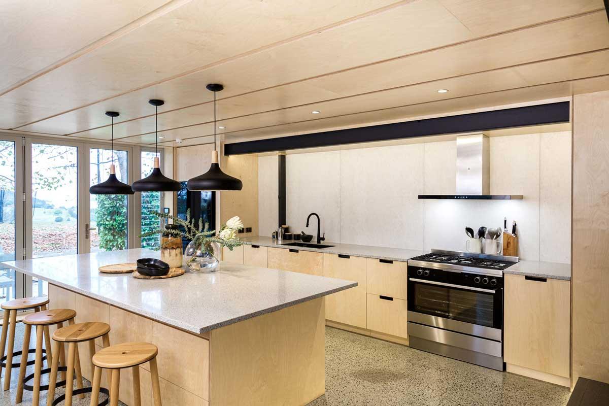 birch plywood kitchen