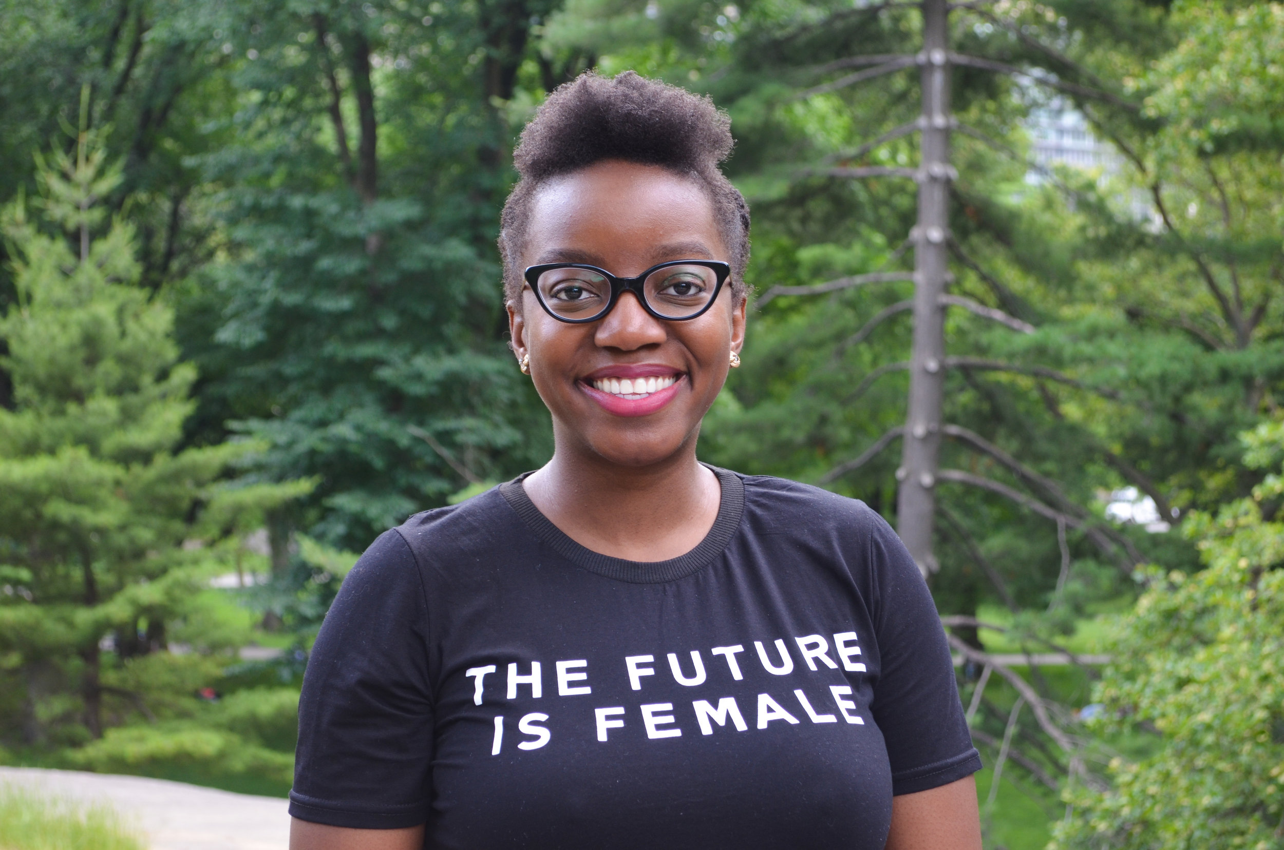 """""""The Future is Female"""" shirt is available from  Poppy Apparel use code  segilola10  for 10% off!"""