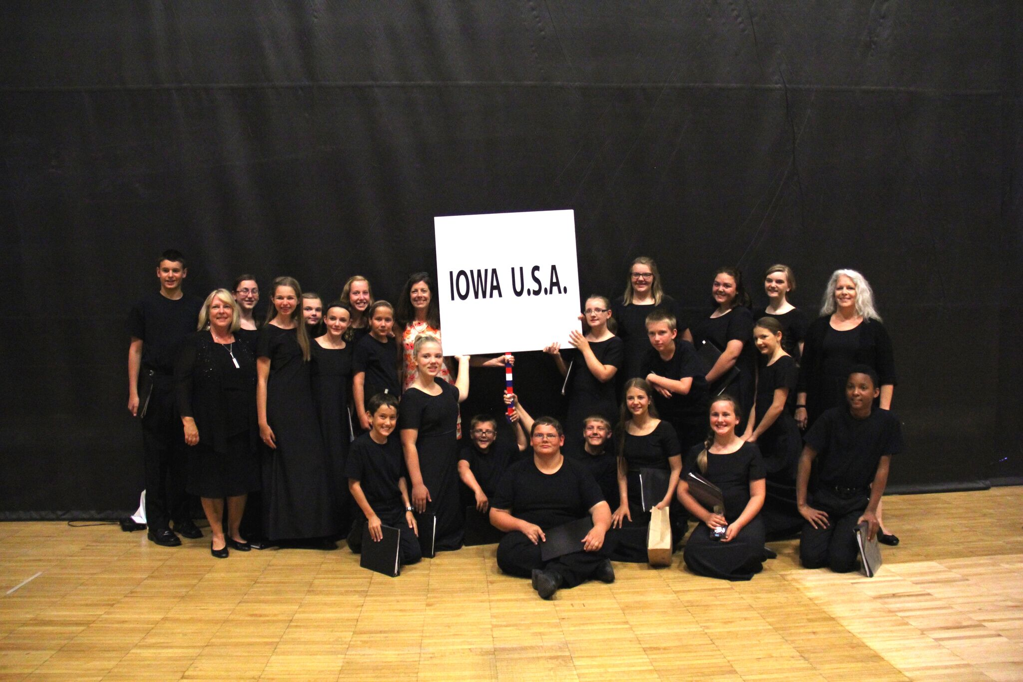 Heartland Youth Choir representing Iowa at the International Choral Festival in Missoula, Montana, in the summer of 2016.