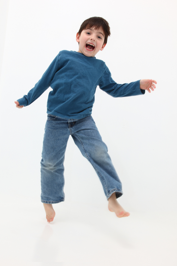 Our Pre-school age boys jump for joy at our dance studio.