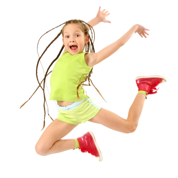 Our dancers jump for joy in our dance classes