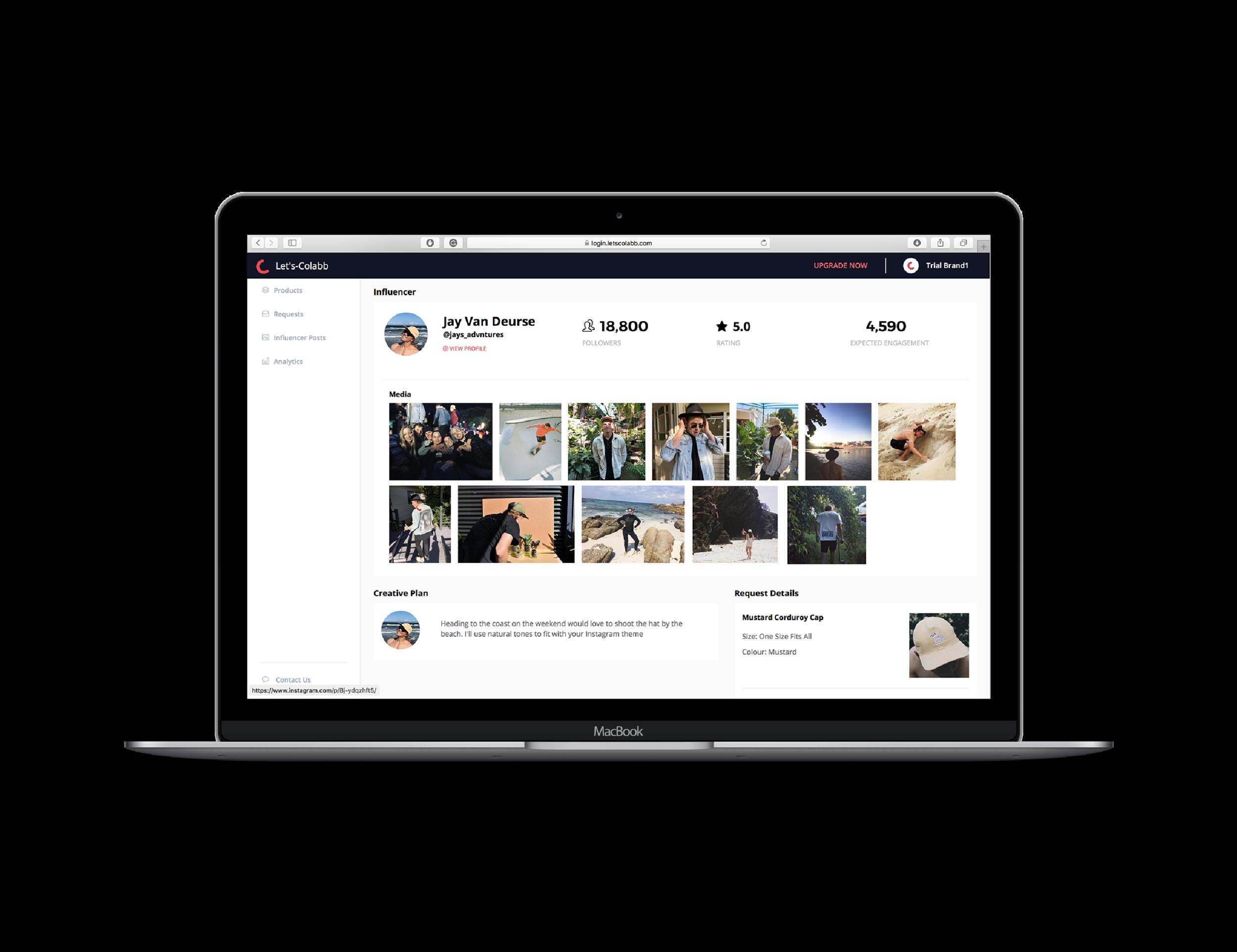 Brands - Your own influencer management portal