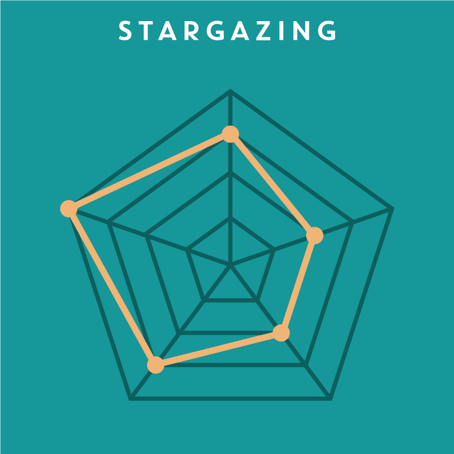 STARGAZING 星象圖   Stargazing helps select concepts to move forward with for prototyping. Designers first write down the most important goals for the project, such as its impact, scalability, consumer need and more, then evaluate each concept and check if it hits the desire target.