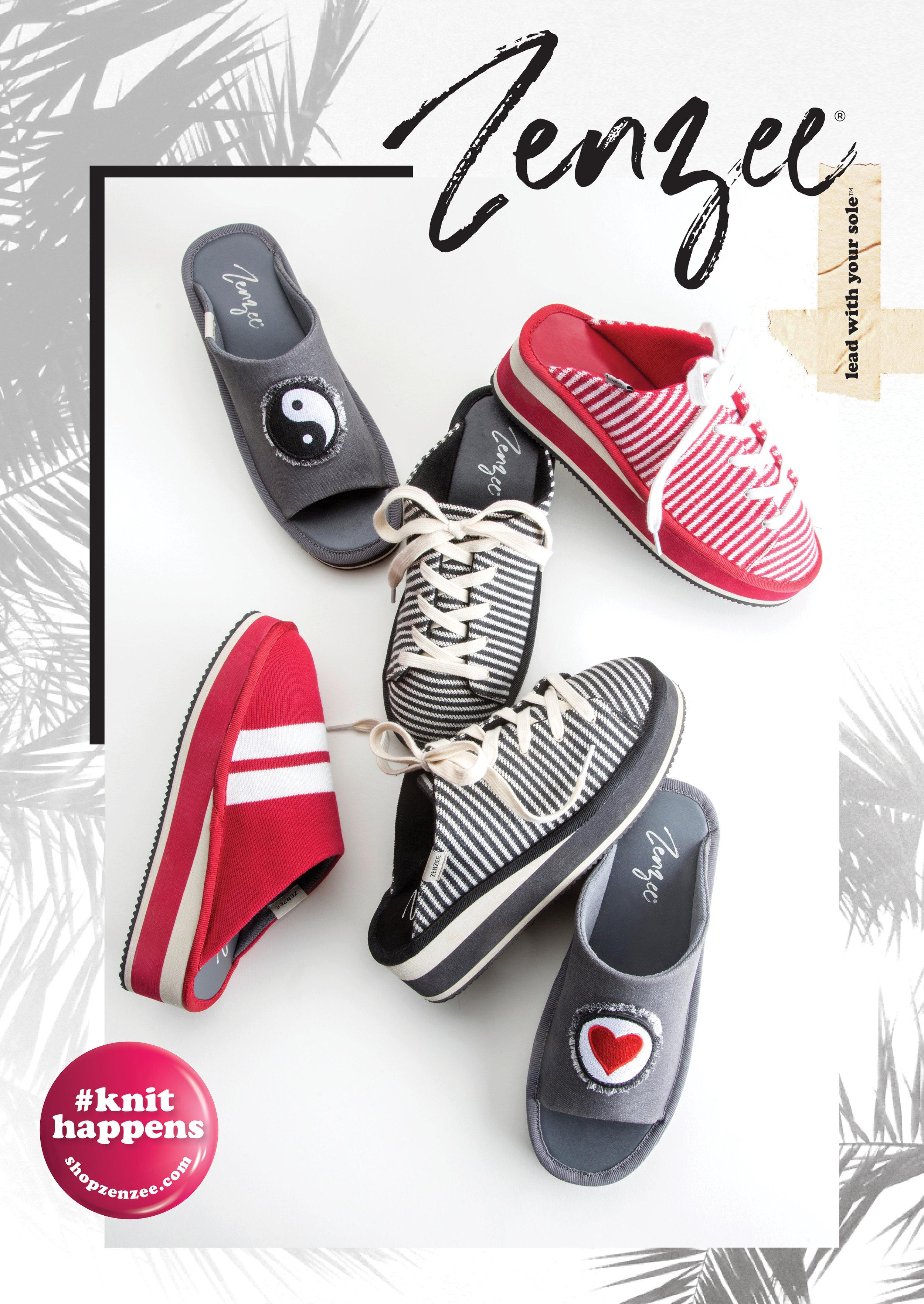 Zenzee slip-on, lace-up mule style sneaker for women. On trend! Stripes. Mules. Platform Sneaker for Women.