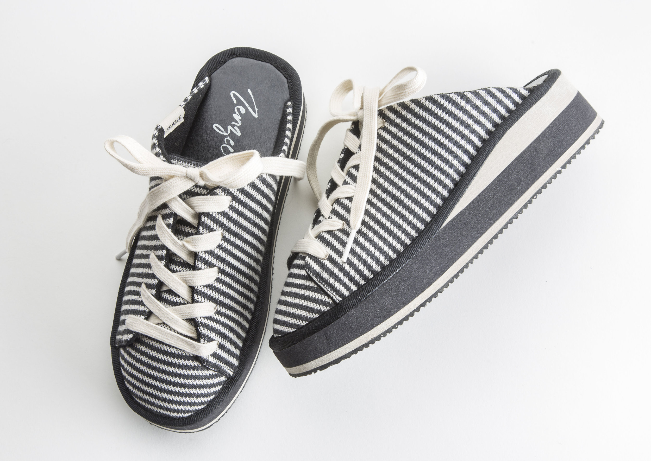 grey stripe lace up - cushiest slip-on sneaker ever!