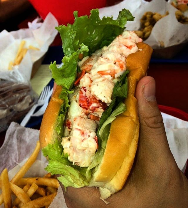 #LobsterRoll from #Harraseeket Lunch & Lobster, South Freeport, ME. Six years ago — @deargorgeousnyc's first lobster roll!