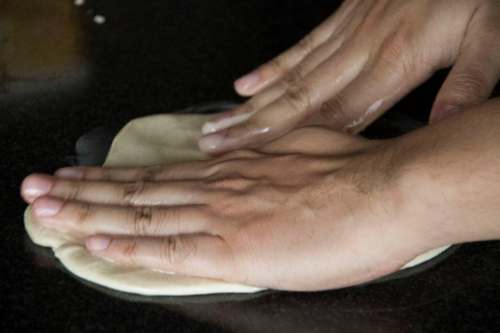 Making Roti Canai
