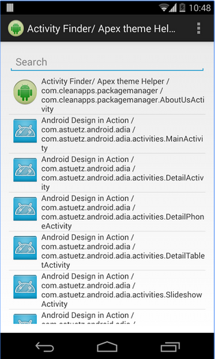 Activity Finder (Apex Theme)