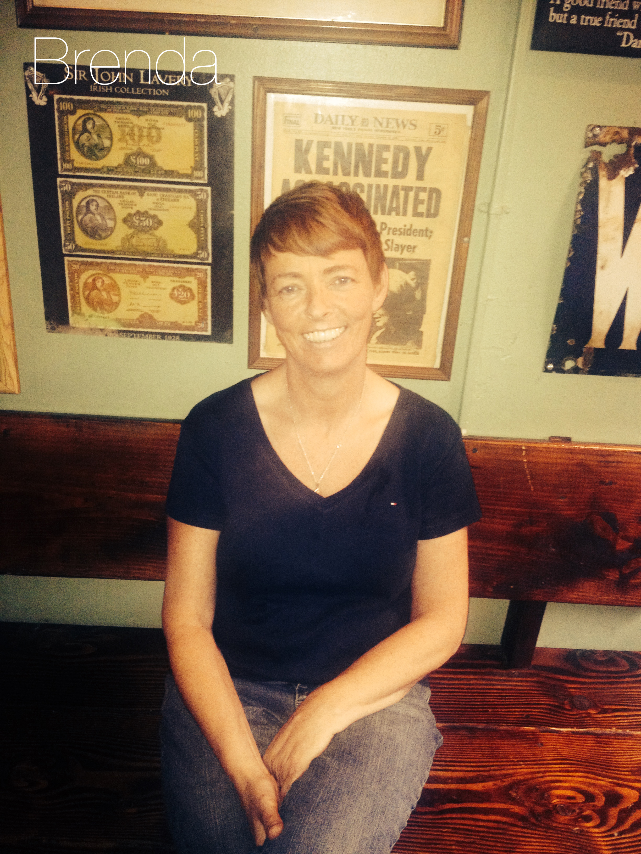 Hails From:  Ireland  Brenda saved Phoenix from oblivion when she purchased the bar in 2011. Since then she has transformed the bar from a dingy dive into a great local watering hole.
