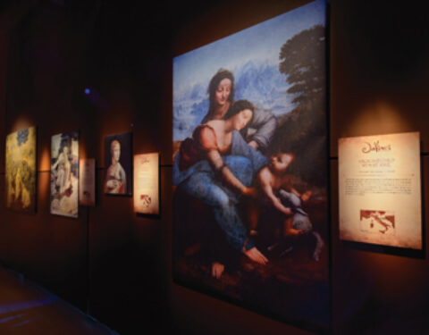 The Mona Lisa at The DaVinci The Exhibition via the website