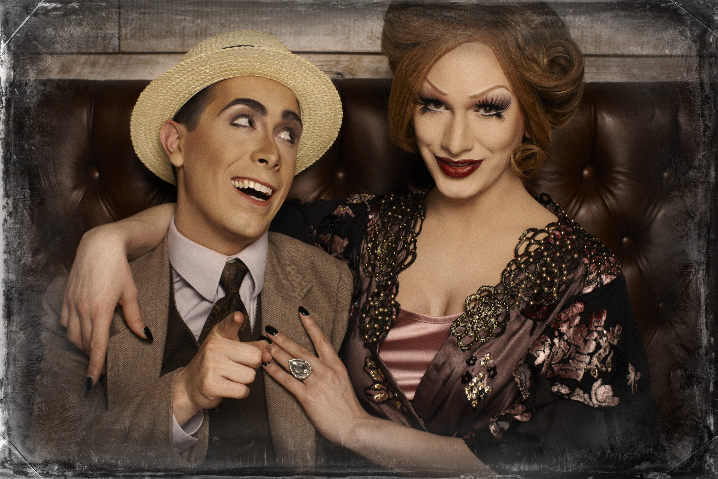 (left to right) Major Scales and Jinkx Monsoon. Photo credit: Magnus Hastings