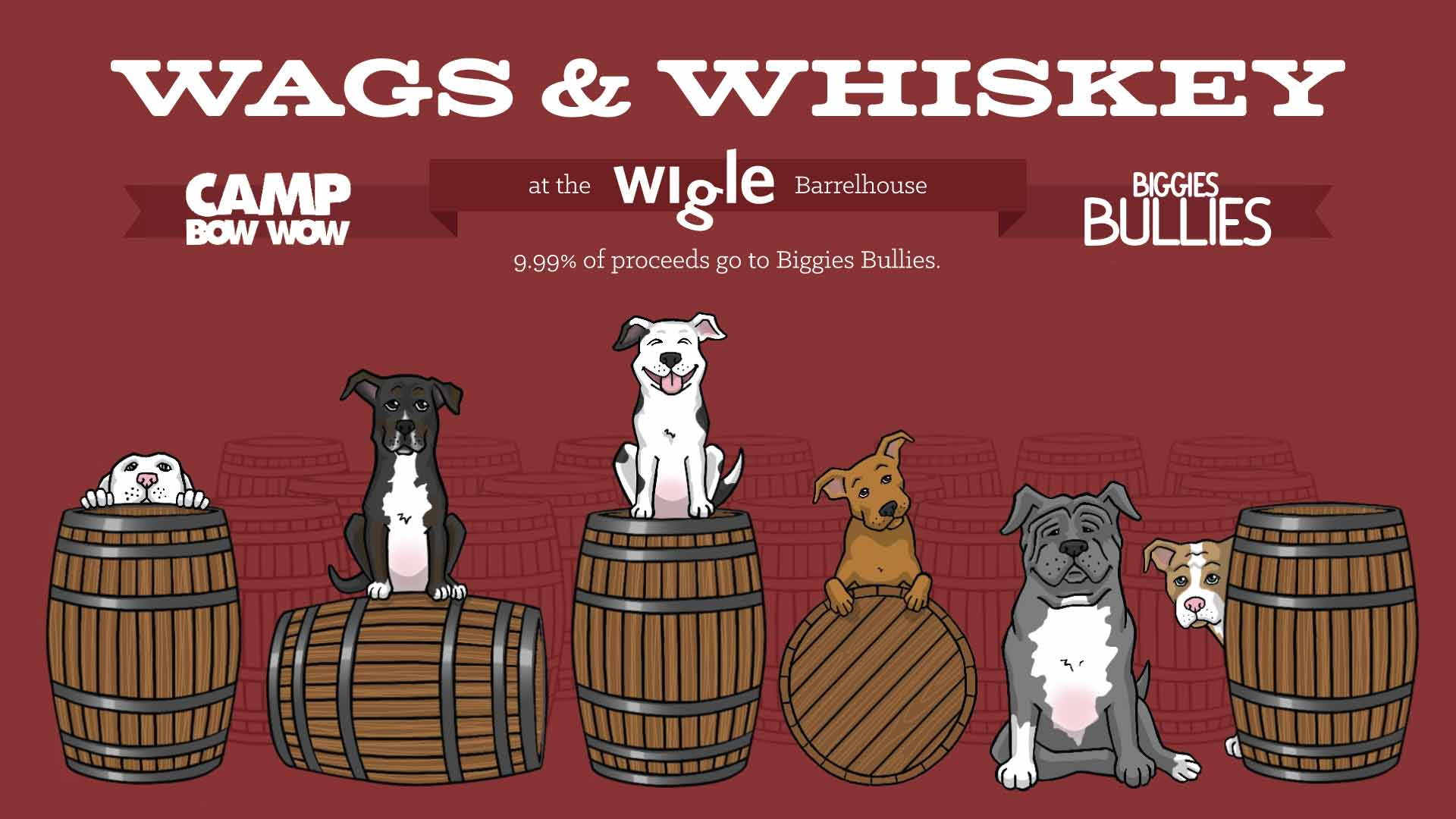 Sunday, October 20th - Wags & Whiskey - Wigle Barrelhouse & Whiskey Garden
