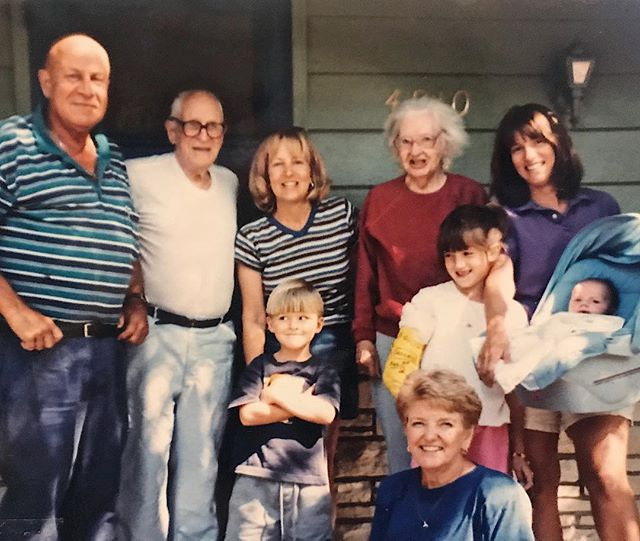 This picture is of me (girl in arm cast) smiling at my goofy cousin Nick (cutie in the middle) who's in front of his mom. My little brother is the baby on the right and that's my mom holding him. My grandparents and great grandparents all surrounding us. I think this picture is pretty dang beautiful. 🖤 I spent most of my time with Nick when we were kids. My cousin Nick passed away this past Fall. He was 24. This weekend my family gathered in Minnesota for his burial at Fort Snelling cemetery. Nick took his own life. And damnit, I wish the adult version of these baby faces in this picture could have grown up together even longer. I've tried writing this out so times and realized there's nothing that'll explain exactly how I feel and most of all because suicide isn't a stranger to our family. We lost my uncle Mike to suicide in 2011. 🖤 For those who struggle with mental health, know that people love the crap out of you. Even people you wouldn't expect love you, appreciate you, need you and can be there for you. All of us just don't talk about it enough. And it sucks. If I can say one thing in this post it's that YOU are meant to be here on this planet. There's a reason why we all intertwine on this earth. Why beautiful moments happen that make us cry. And why we want to reach for each other when we are sad. The world can be messed up and broken, but we gotta keep reminding ourselves that we are all here for each other. And that life is incredibly precious. 🖤 Depression & mental illness should be talked about way more because no generation or person is immune to it. It will never appear the same, it can appear as happy or sad — and just because someone isn't outwardly crying or angry doesn't mean they aren't struggling every single day privately. And I know I'm not alone in feeling this way about mental health, which gives me hope. 🖤 These words might come across as trivial. But I promise I mean every one. I'm still figuring all this out. I know I've only learned a fra