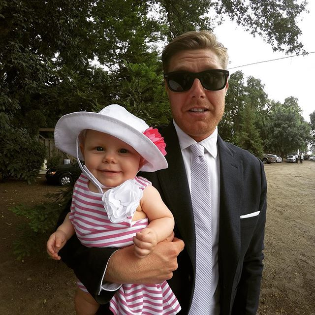 My date for a wedding this past weekend. Thanks @taylorstitch for the full duds from suit to shirt and tie. I still didn't look as cute as the little lady. 📸 @kristennico