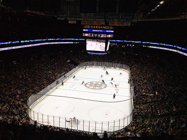 Last night's view from up top. @nhlbruins