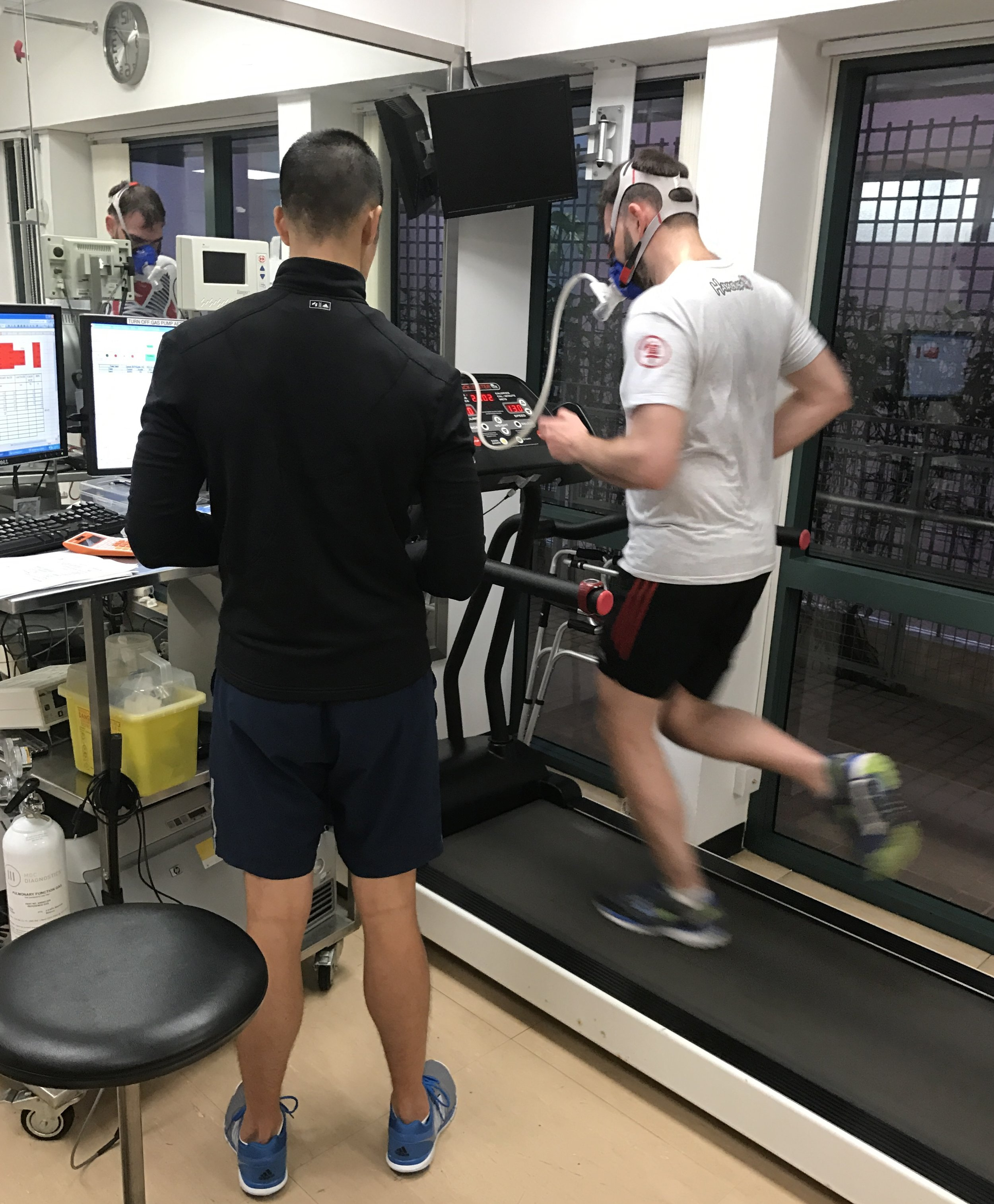 Running VO2Max Test in Progress - Copyright: Life-Sparring.com