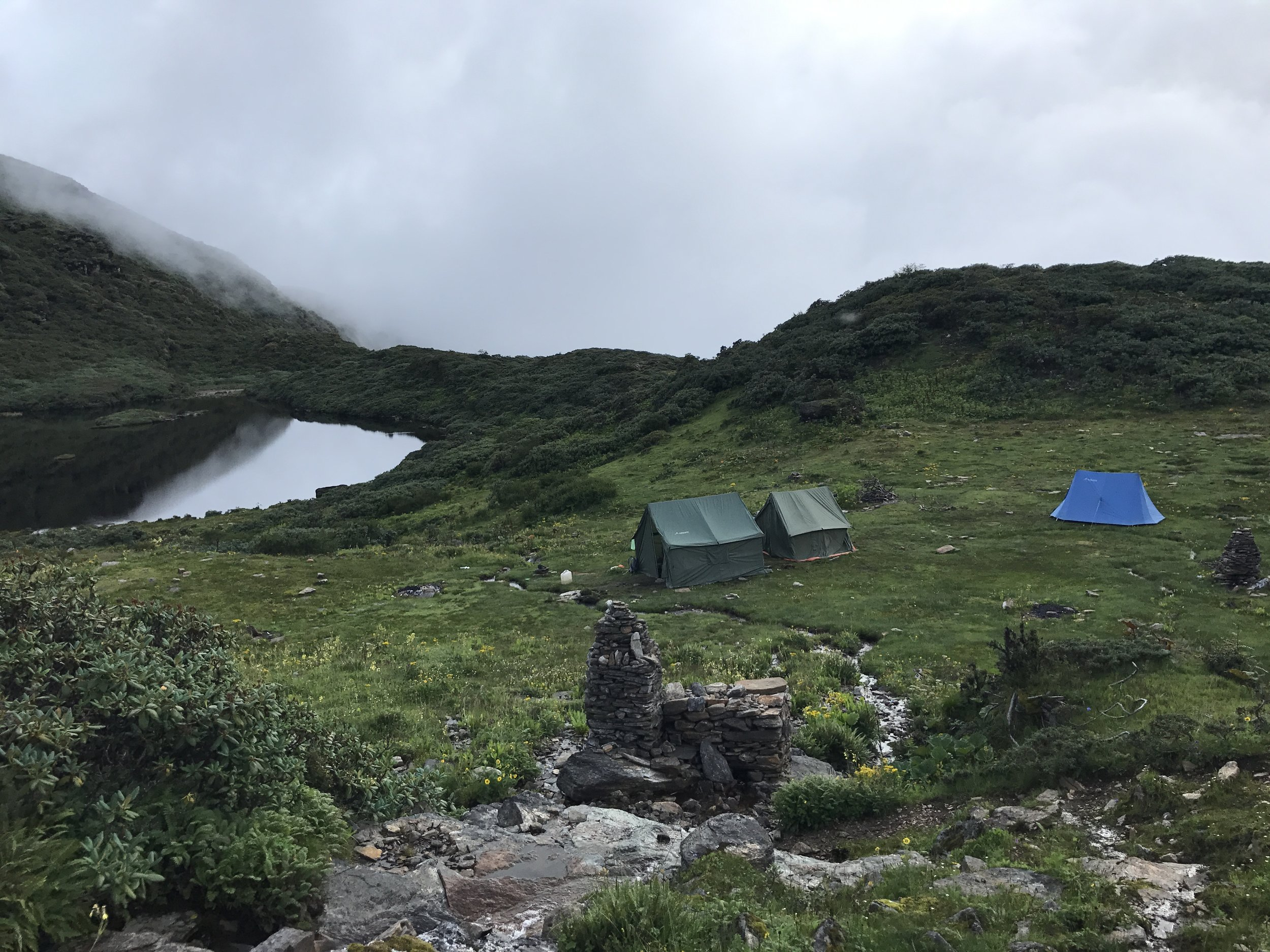 Camp on day two - rarely ever felt so relieved reaching a camp.