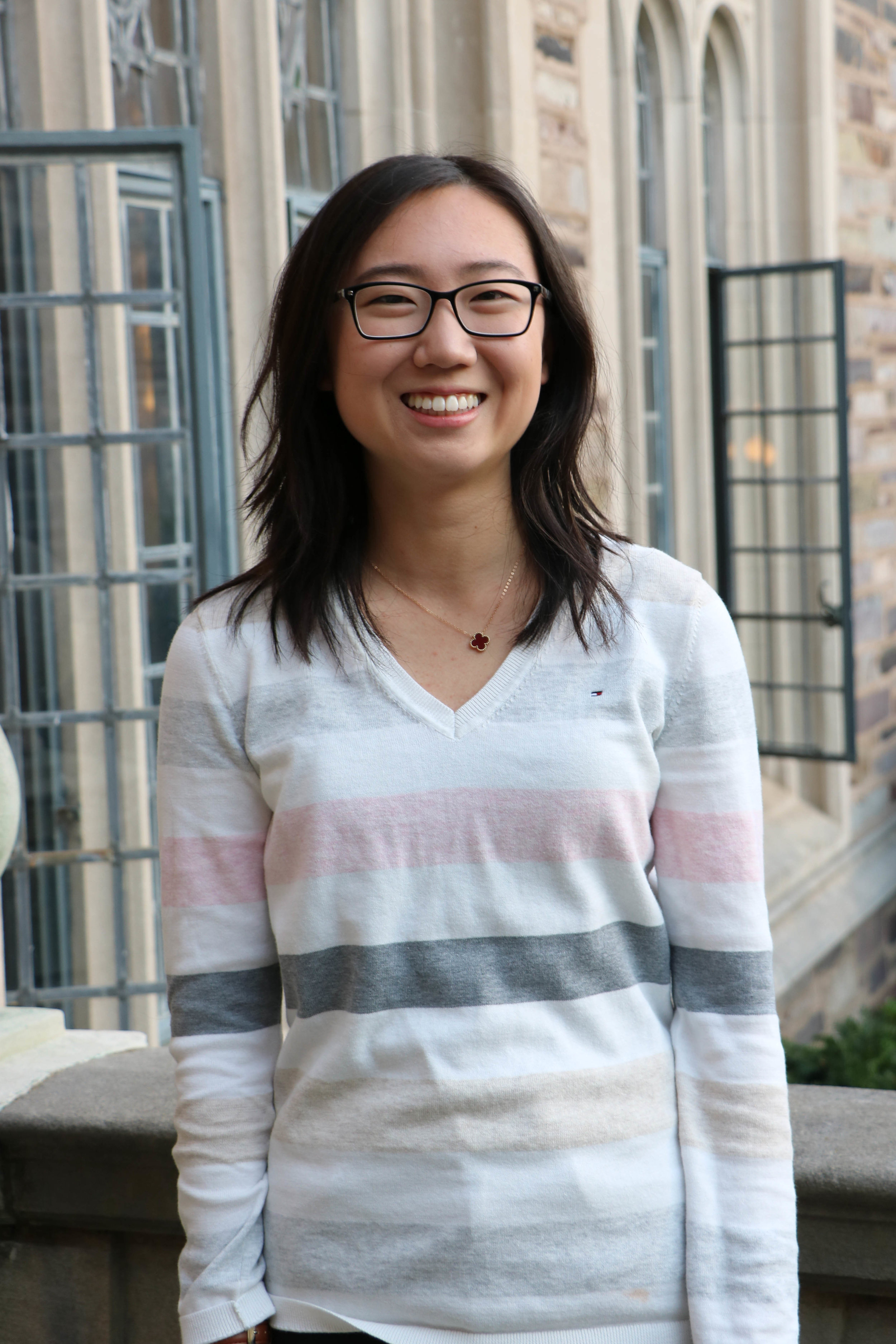 CINDY SONG   Cindy is a freshman from Rockville, Maryland. She intends to major in Economics with possible certificates in Applications of Computing and Creative Writing. Having visited China many times throughout her life, she wants to learn more about the economic and business relations between U.S. and China. Outside of PUCC, Cindy is involved in Envision Conference, Chinese Students Association, and KoKo Pops Dance Company. She would love to study abroad in China or another East Asian country during her time at Princeton.