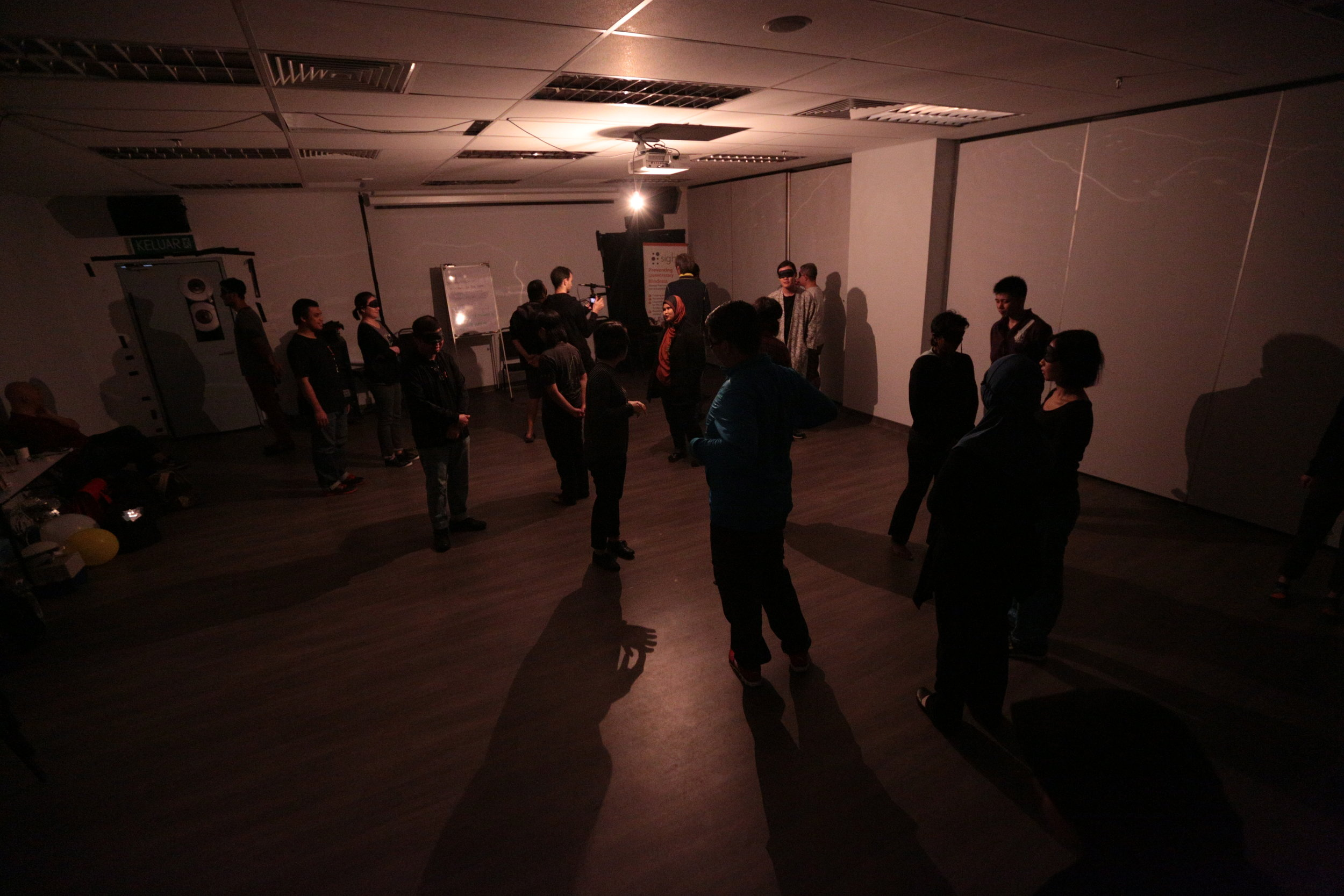 Exercise in darkness shift lab.JPG
