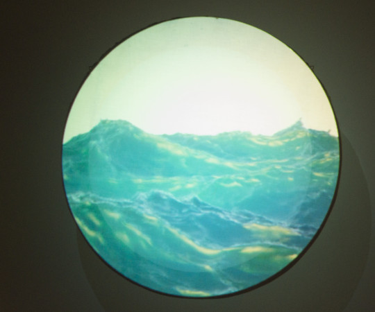 The Waves  (2015) on the circular screen.