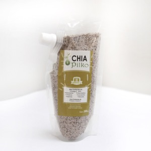 CHIA DEHYDRATED SEED -  Pure fiber    Food source with high concentrations of omega 3, fiber and calcium.   Helps to protect the organism from cholesterol, constipation and obesity.   Satisfies hunger.