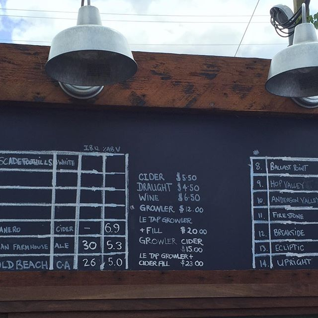 Tap list America! Have a sunny one on our patio! #piedmontstationfoodcarts #beer #cider #wine #pdx