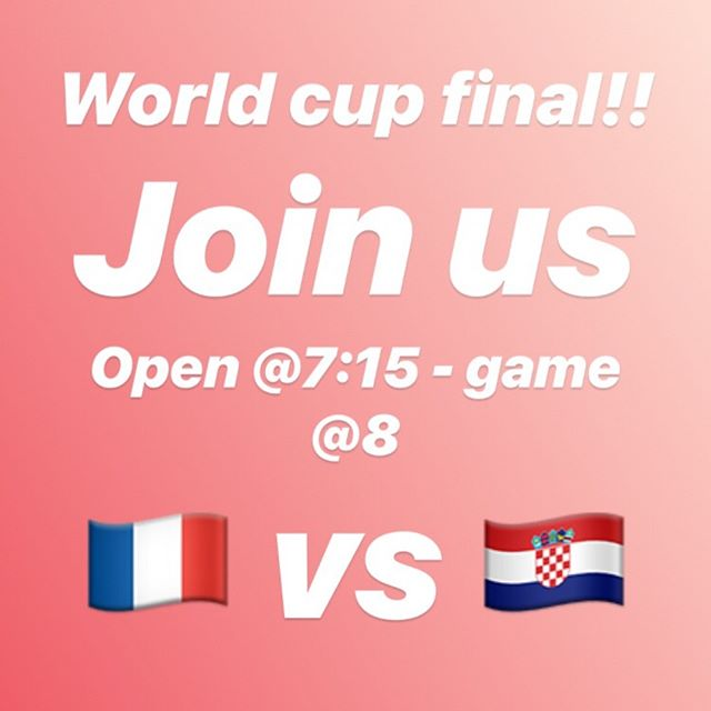 Our sister bar @prospectbottleshop is opening at 7:15 to watch the World Cup Final with you! Game starts at 8, France vs. Croatia - whichever your team, you are welcome! NE 16th & Killingsworth #worldcup #worldcup2018 #soccer #football #futbol #france #croatia #craftbeer #beer #wine
