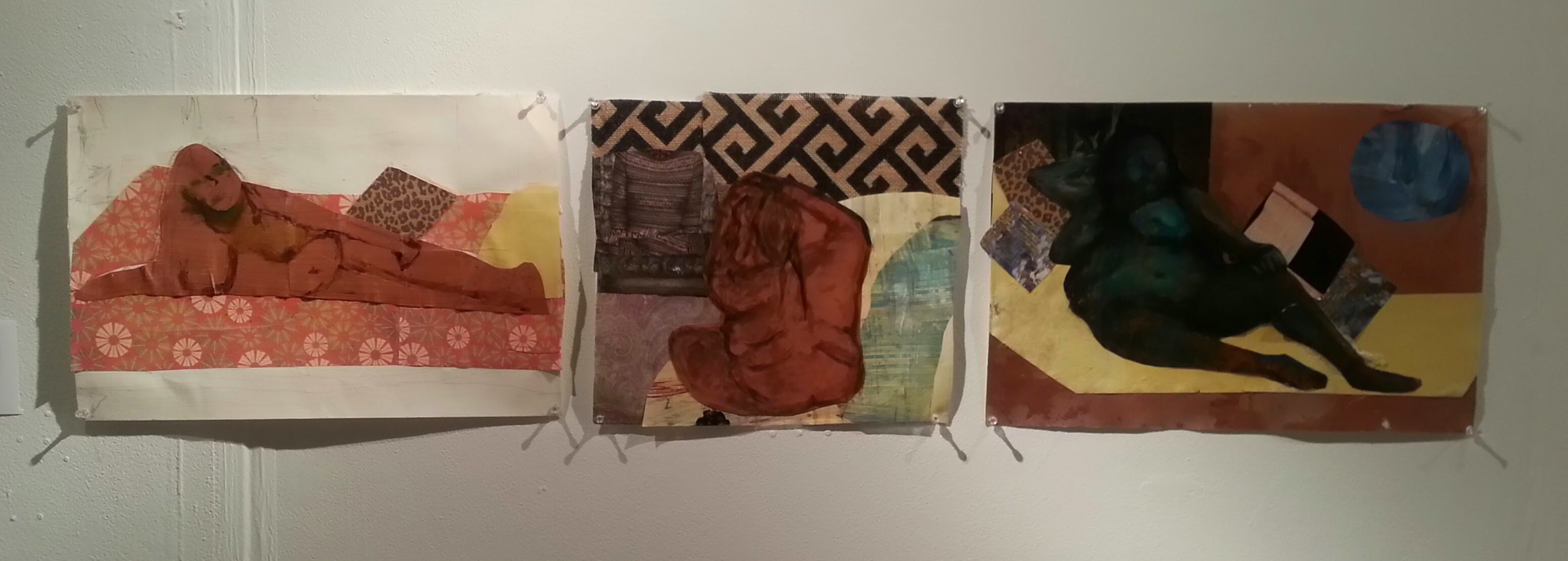Percolate (triptych), 2015