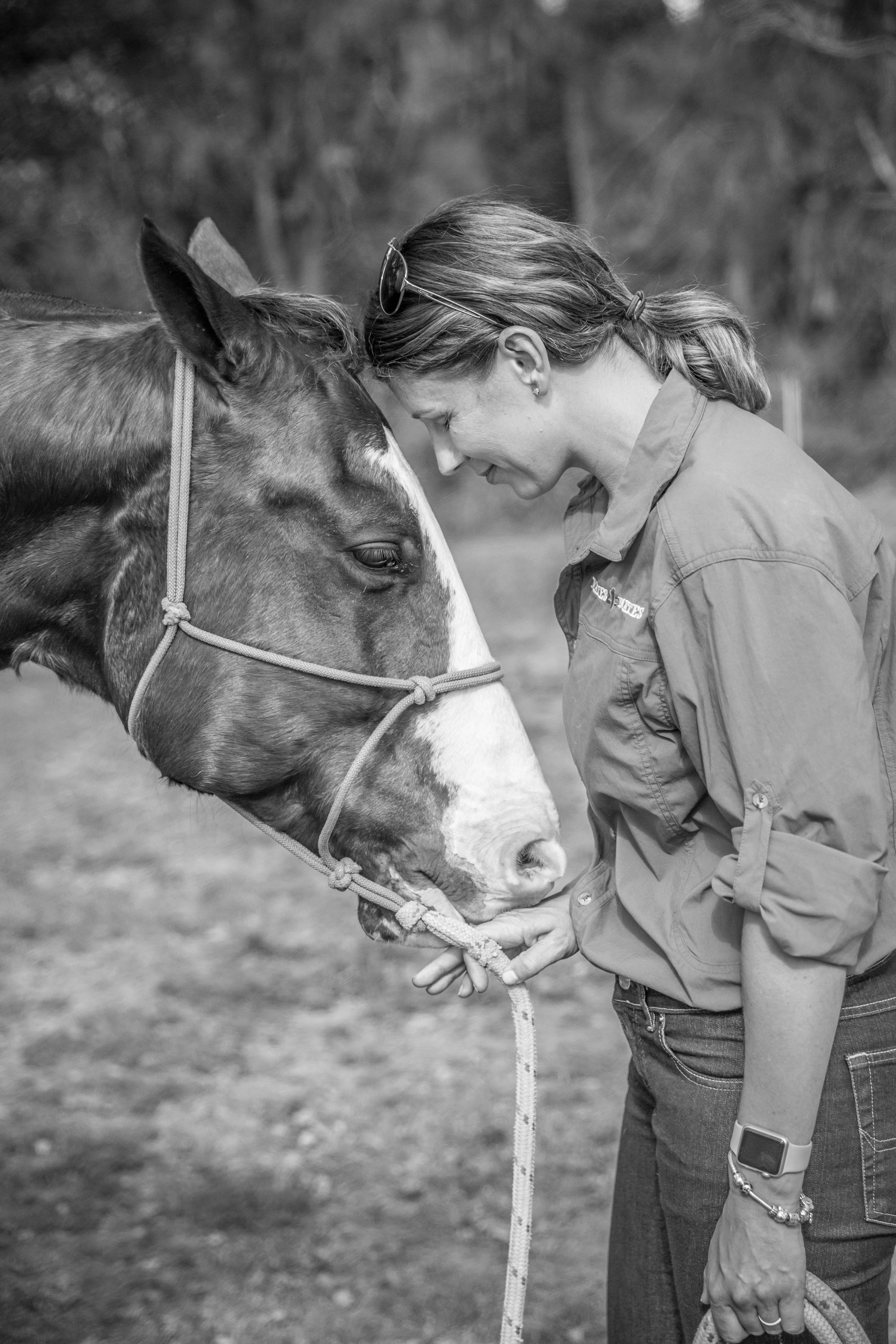 Equine therapy has helped Pennie to cope with PTSD.