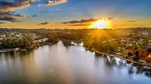 Golden hour at the lake #ForestLake #DJI #AerialPhotography #P4P #Phantom #Drone